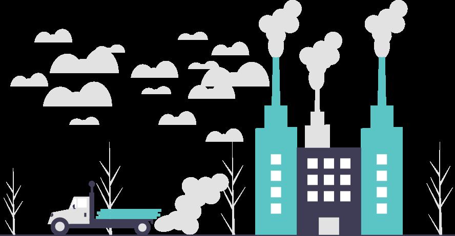 Ein bild voll mit CO2 Emissionen